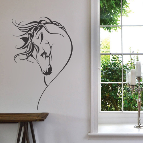 adesivo decorativo de parede cavalo animal 100x65 cm