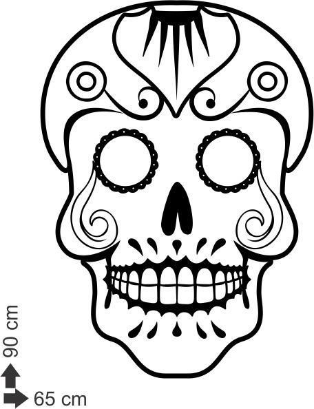 Adesivo Decorativo De Parede Caveira Mexicana 90x65cm R 53 00