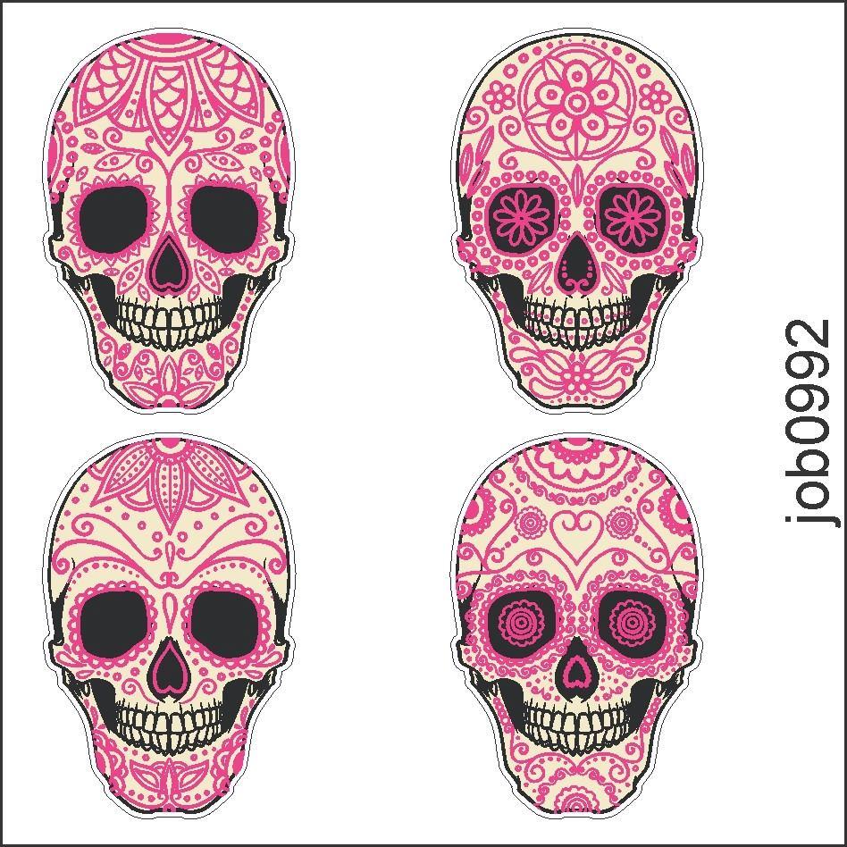Caveira Mexicana Com Rosas Desenho Mmod