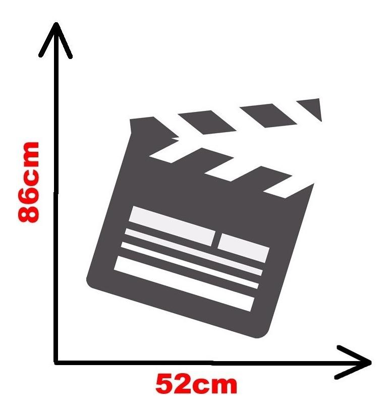 Adesivo Decorativo De Parede Claquete Fita De Cinema R 57 70