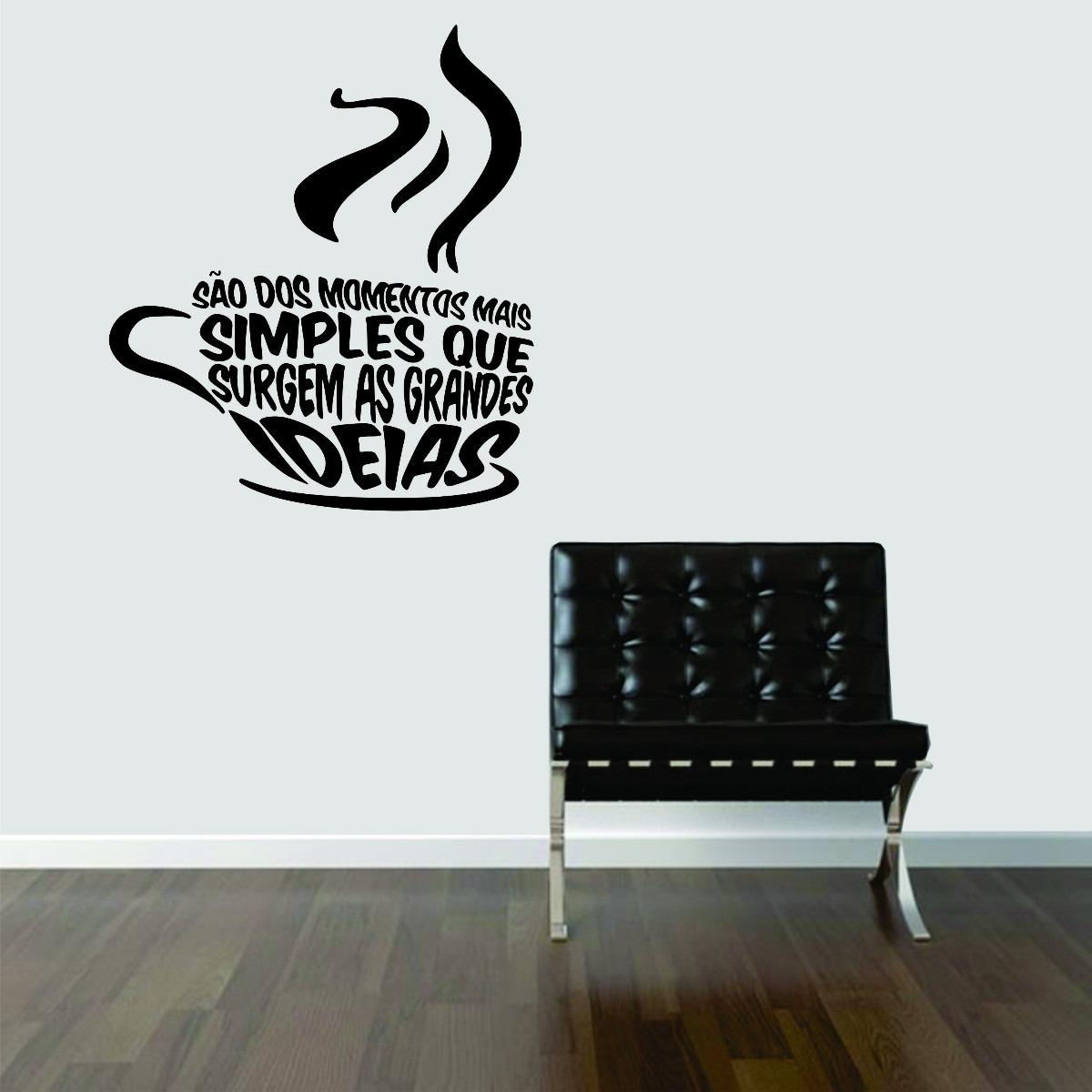 Artesanato Com Tecido E Cola ~ Adesivo Decorativo De Parede Cozinha Cafe Coffee Frases R$ 44,99 em Mercado Livre