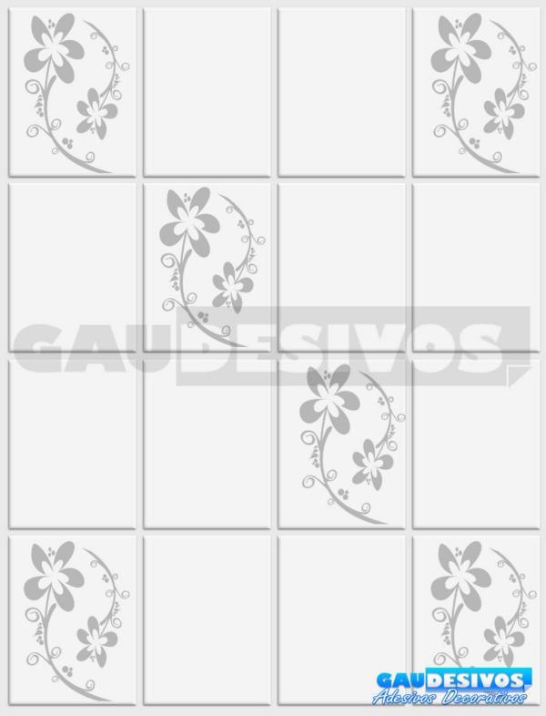 Artesanato Indigena Comprar ~ Adesivo Decorativo De Parede De Azulejos Kit Floral, Cozinha R$ 44,79 em Mercado Livre
