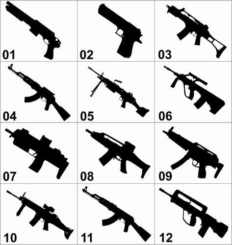 Armario Embutido Quarto Pequeno ~ Adesivo Decorativo De Parede, Desenhos De Armas Iradas R$ 11,99 em Mercado Livre