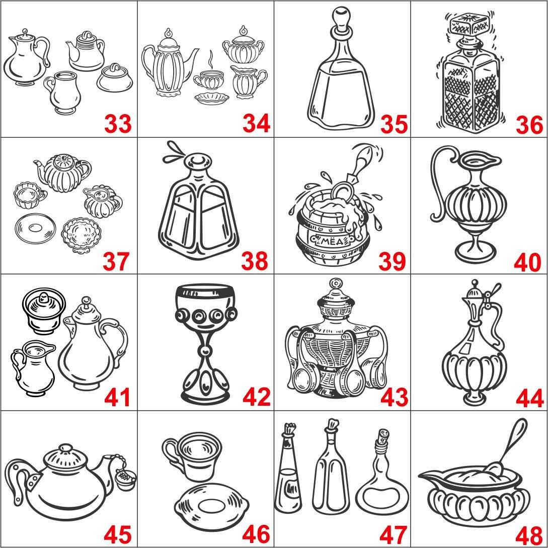 Adesivo Mesa De Jantar ~ Adesivo Decorativo De Parede, Desenhos P Decorar Cozinha R$ 12,90 em Mercado Livre