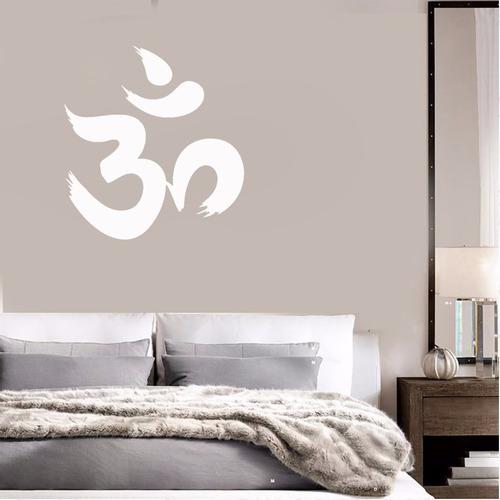 adesivo decorativo de parede escrita om mantra 70x65cm
