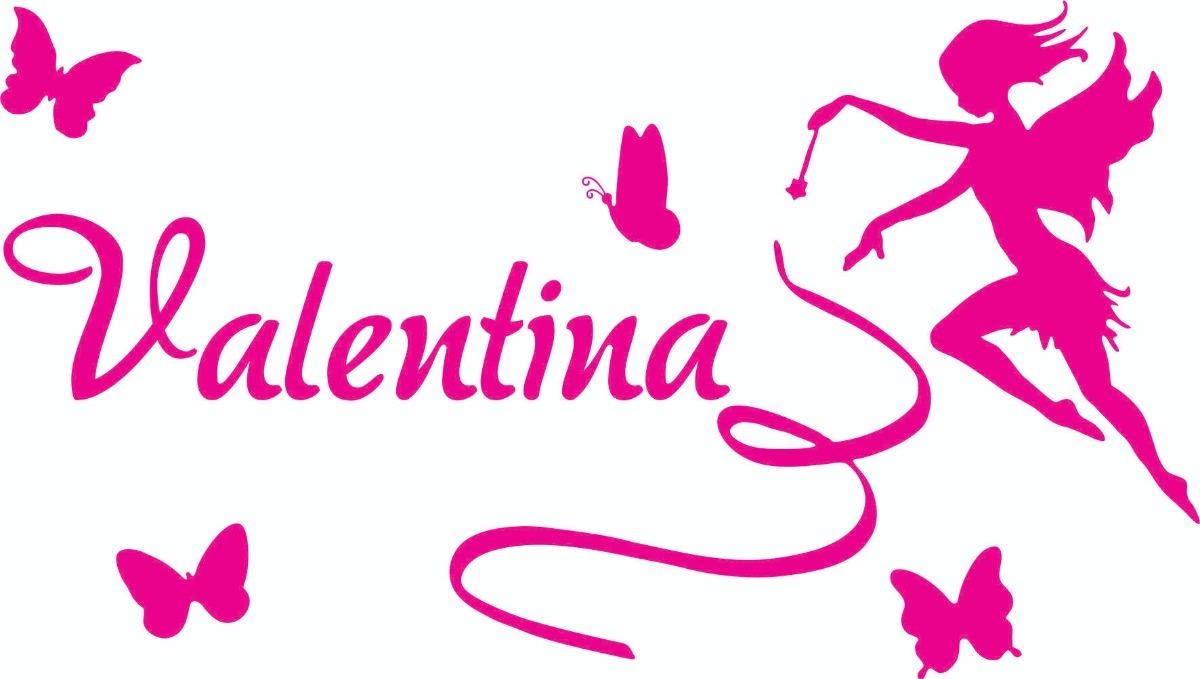 Aparador Traducir En Ingles ~ Adesivo Decorativo De Parede Fada Com Nome Valentina R$ 33,50 em Mercado Livre