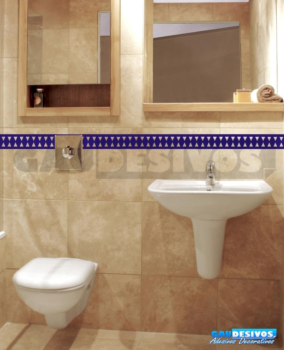 Adesivo De Madeira Para Piso ~ Adesivo Decorativo De Parede Faixa Border Azulejo Banheiro R$ 9,99 em Mercado Livre