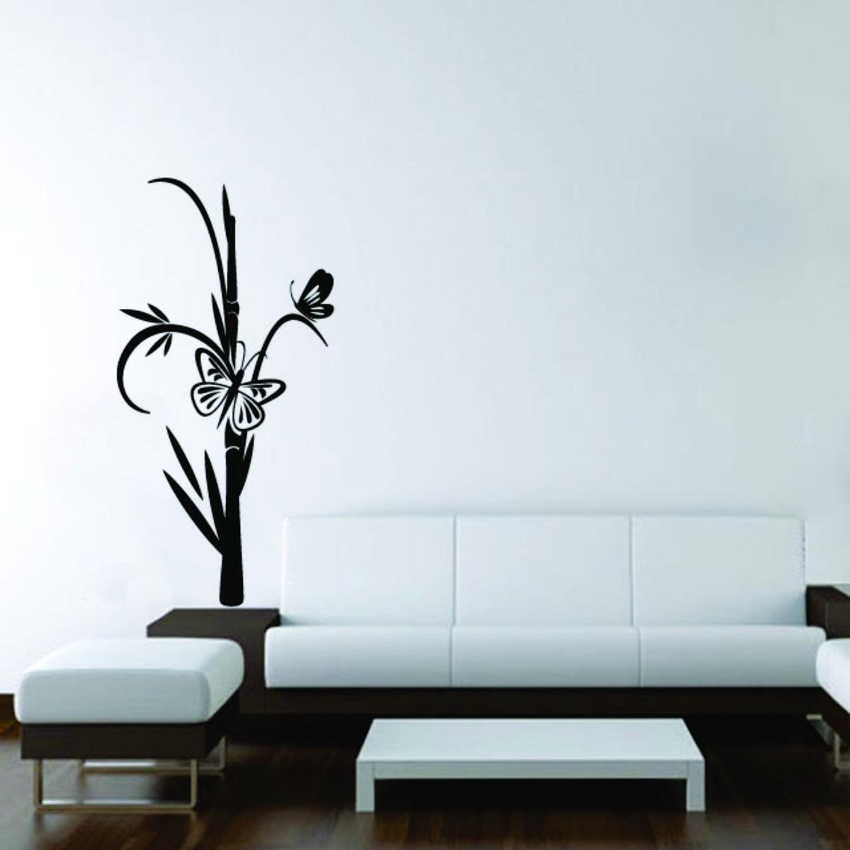 Adesivo Decorativo De Parede Floral Flor Borboletas Sala R 24 99  -> Adesivos Decorativos Para Sala De Jantar