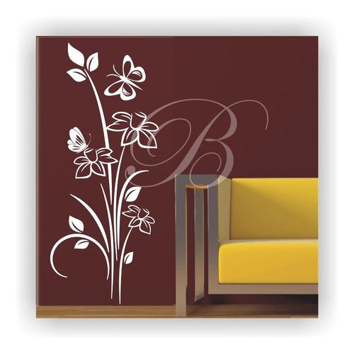 adesivo decorativo de parede floral frete grátis