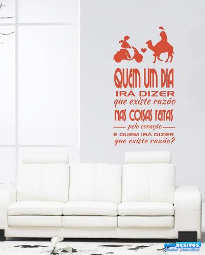 adesivo decorativo de parede frase quem um dia irá dizer