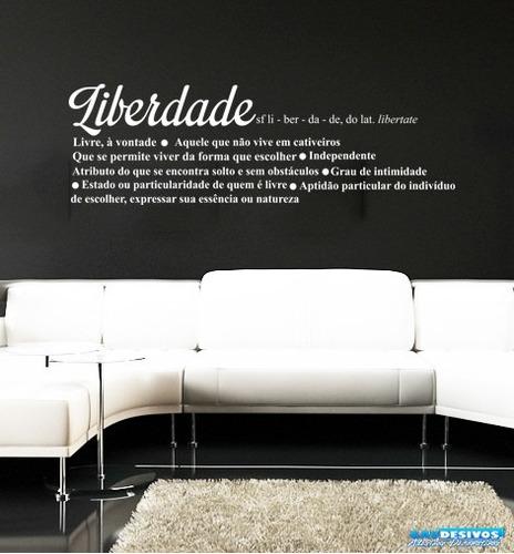 adesivo decorativo de parede frase significado de liberdade