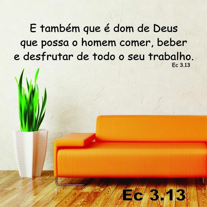 Artesanato Brasil Escola ~ Adesivo Decorativo De Parede Frases Bíblicas Ec3 13 R