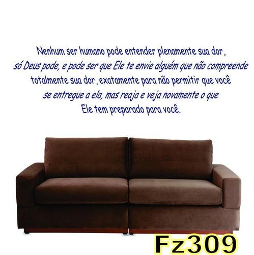 adesivo decorativo de parede frases bíblicas fz309