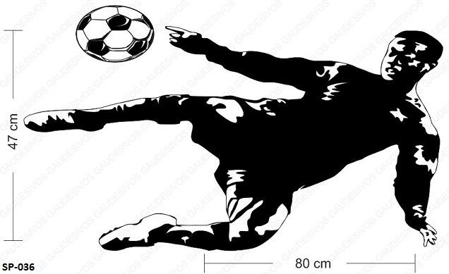 Armario Sinonimo De Arca ~ Adesivo Decorativo De Parede Jogador Futebol Chutando Bola R$ 29,99 em Mercado Livre