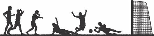 adesivo decorativo de parede jogadores no campo de futebol