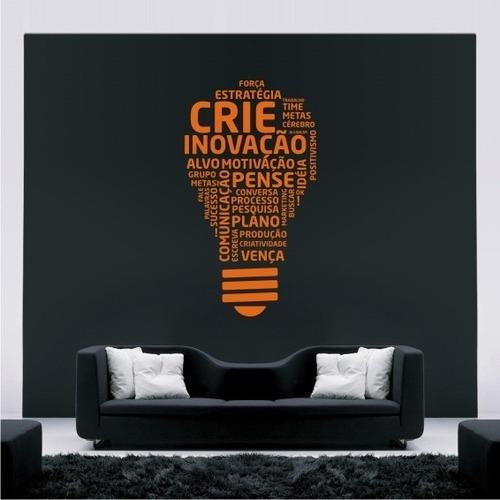 adesivo  decorativo de parede lampada ideias