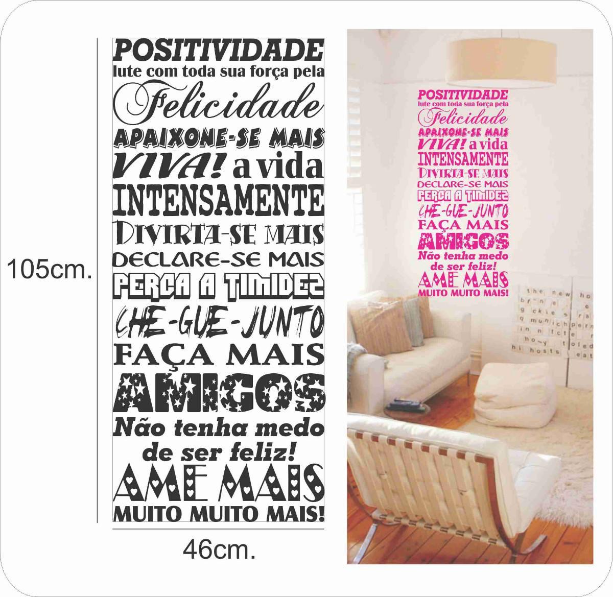 Artesanato Brasil Escola ~ Adesivo Decorativo De Parede, Lindo Conjunto De Frases R