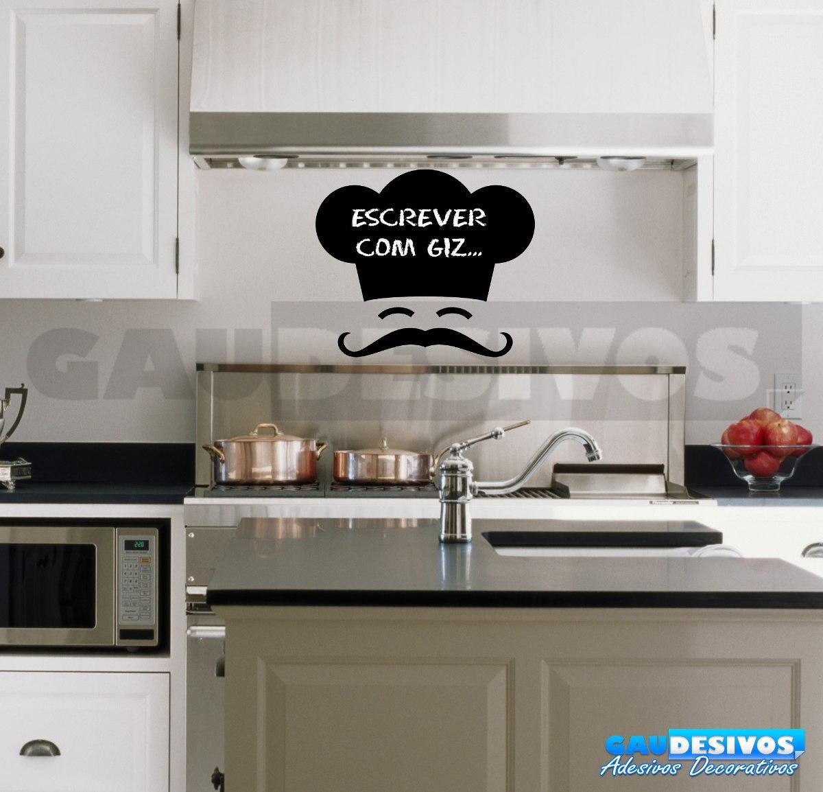 Adesivo Mesa De Jantar ~ Adesivo Decorativo De Parede Lousa Chef De Cozinha I R$ 19,99 em Mercado Livre