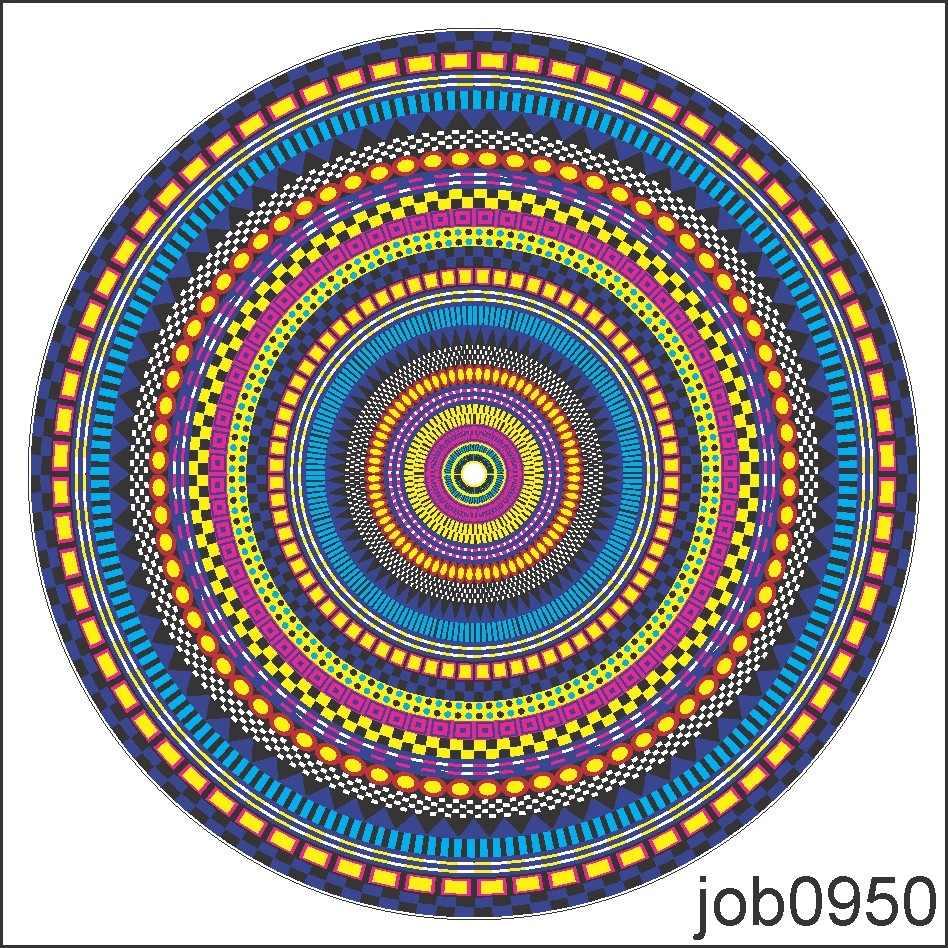 Adesivo De Parede Mandala ~ Adesivo Decorativo De Parede Mandala Colorida Linda