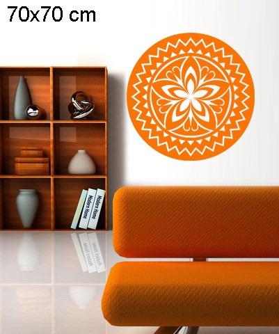 adesivo decorativo de parede mandala flor