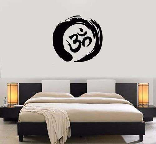adesivo decorativo de parede mandala om mantra 70x75cm