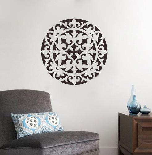 adesivo decorativo de parede mandala quarto sala 80x80 cm