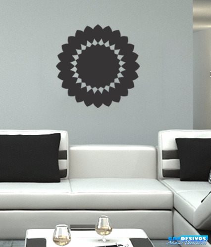 adesivo decorativo de parede mandala simples