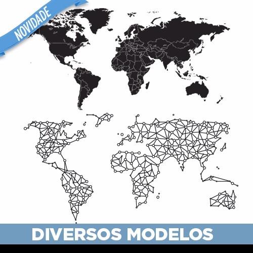 Adesivo De Parede Espelhado ~ Adesivo Decorativo De Parede Mapa Mundi Gigante!! R