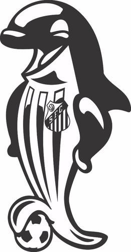 adesivo decorativo de parede mascote time santos - baleia