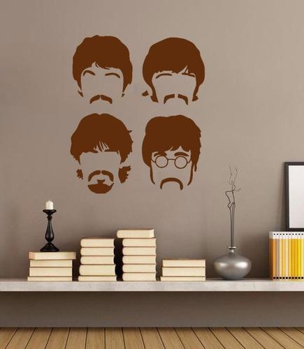 adesivo decorativo de parede música the beatles cantor rock