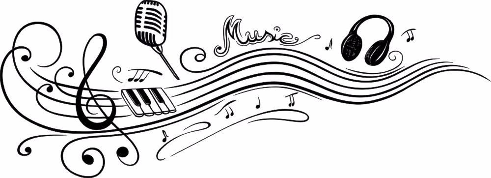 Foto Nota Musical ~ Adesivo Decorativo De Parede Nota Musical, Microfone, Fone R$ 39,99 em Mercado Livre