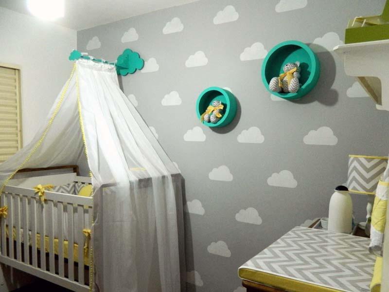 Artesanato Brasileiro Em Sp ~ Adesivo Decorativo De Parede Nuvens Quarto Bebe Berço