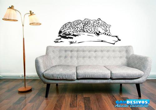 adesivo decorativo de parede onça - decoração de interiores