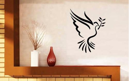adesivo decorativo de parede pássaro espírito santo 56x70 cm