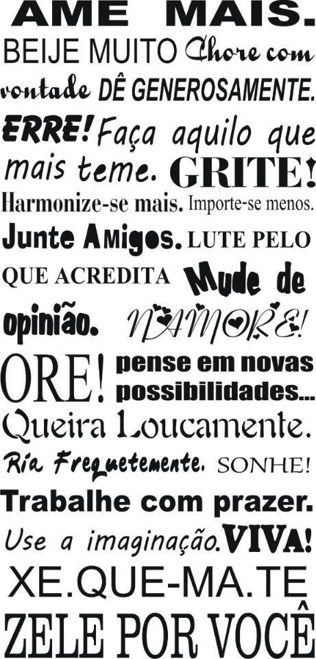 Adesivos Decorativos De Parede Mandalas ~ Adesivo Decorativo De Parede Personalizada Frases Exclusivas R$ 39,99 em Mercado Livre