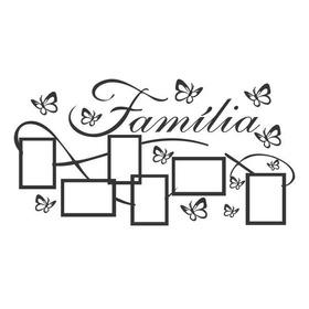 Adesivo Decorativo De Parede Porta Retrato Família