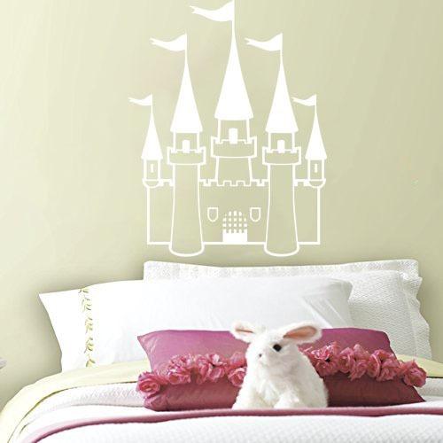 adesivo decorativo de parede princesa castelo menina 90x70cm
