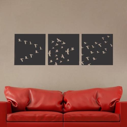 adesivo decorativo de parede quadrinhos pássaros