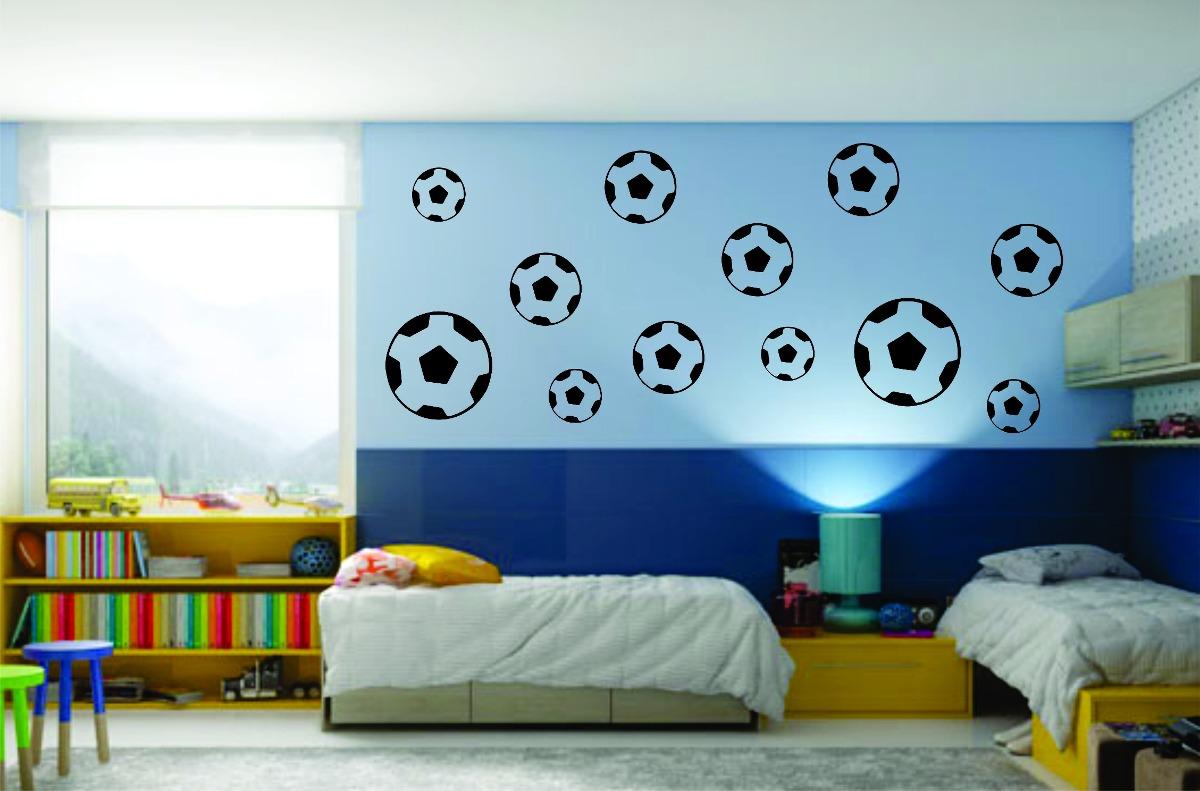Adesivo decorativo de parede quarto menino bola de futebol r 25 99 em mercado livre - Papel decorativo infantil ...