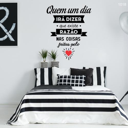 adesivo decorativo de parede quem um dia irá dizer - 60x49cm