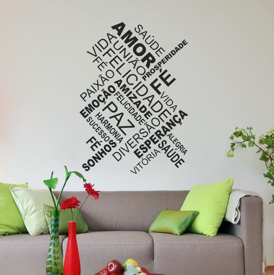 Adesivo Decorativo De Parede Sala Quarto Frases Amor Fé  ~ Adesivo De Parede Quarto Frases
