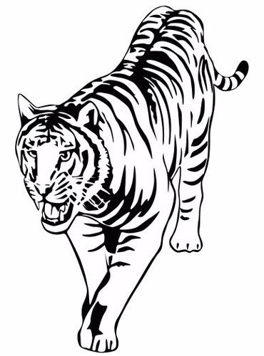 adesivo decorativo de parede tigre - decoração de interiores