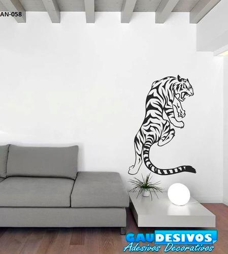adesivo decorativo de parede tigre - felino - cat sala -casa
