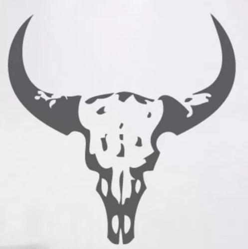 adesivo decorativo de parede touro toro animal natureza