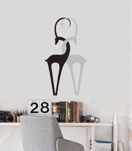 adesivo decorativo de parede veado natureza chifre veadinhos