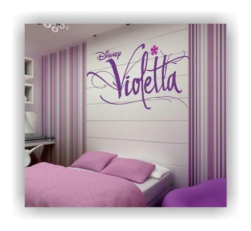adesivo decorativo de parede violetta violeta 1,20 metro