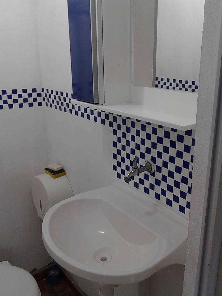 Artesanato Tecido ~ Adesivo Decorativo De Pastilha Banheiro Cozinha Placa Grande R$ 39,97 em Mercado Livre