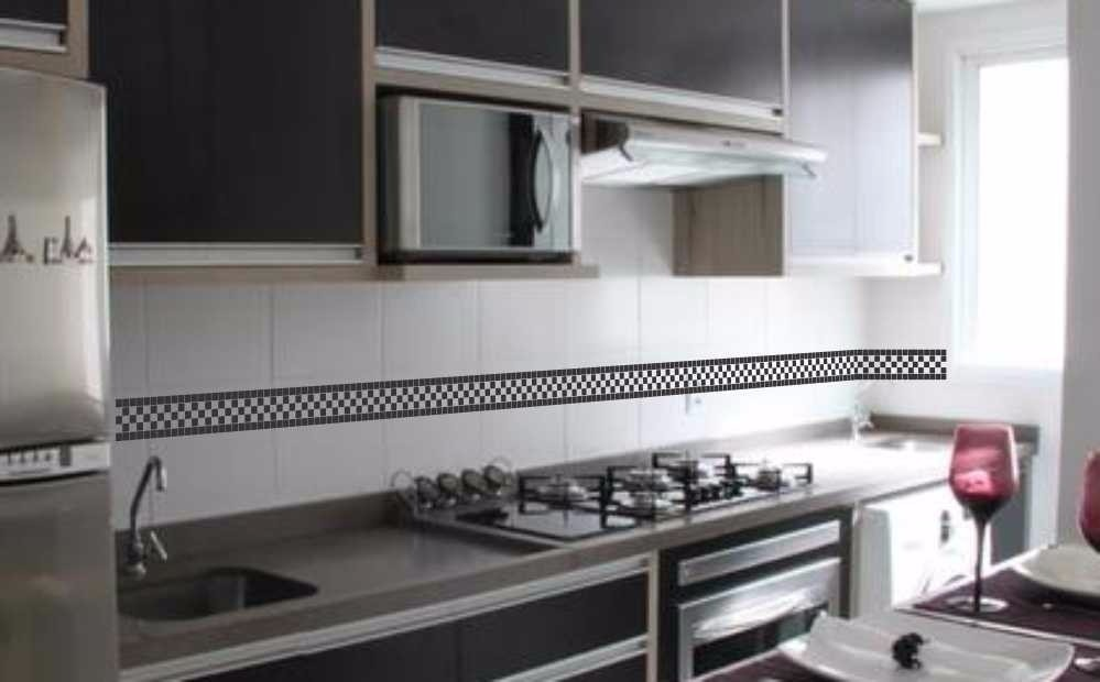Aparador Area Externa ~ Adesivo Decorativo De Pastilhas Faixas P Cozinha E