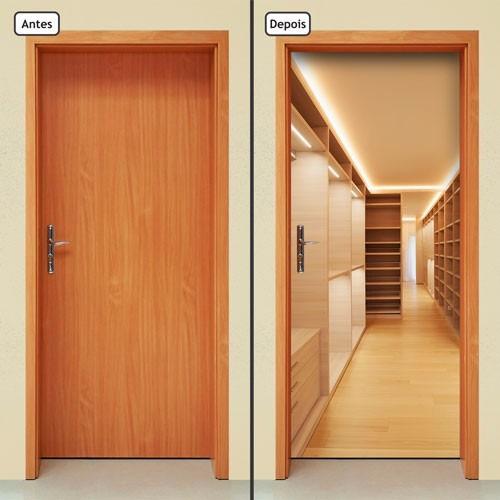 adesivo decorativo de porta - closet - armário - 120mlpt
