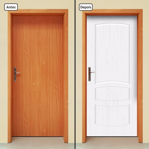 adesivo decorativo de porta - porta de madeira - 680mlpt